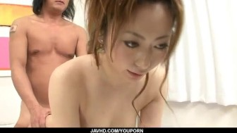 Arisa Suzuhusa Asian milf gets nailed in gangbang