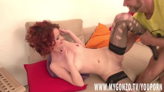 YOUNG 18 YEAR OLD TEENY GIRL IS TRAINED AND FUCKED HARD BY MUGUR