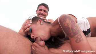 Skin Diamond fucked hard