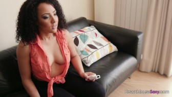 Hot gamer girl plays by herself - nip slip tanned exotic beauty - trailer