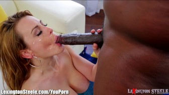 Big Titty MILF takes on 1Foot Black Cock