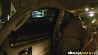 StrandedTeens - Blonde teen gets fucked in the back seat