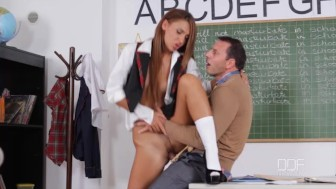 Naughty Teen Alexis Brill fucks her College Professor