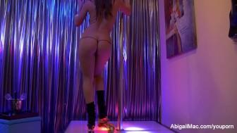 Abigail Mac Sexy Striptease