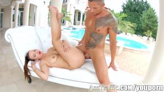 AssTraffic Cock sucking and ass fucking for hot babe