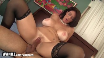Busty MILF Rides Her Stepson s Big Dick!