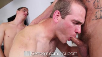 Kory Houston gets involved in a sweaty threesome fuck session