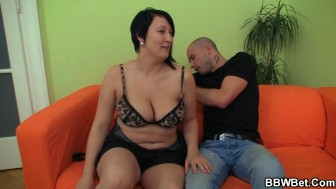 Horny fatty loves cockriding