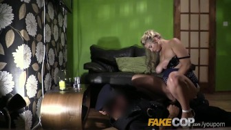 Fake Cop Busty blondes night in with the cop
