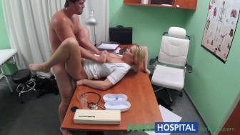 FakeHospital Nurse helps stud get an erection