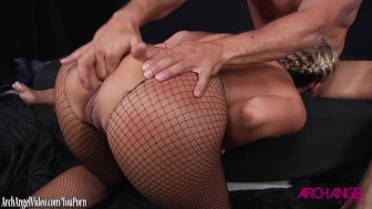 Phoenix Marie taking fat cock in her asshole