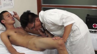 Gay doctor barebacks asian twink ass