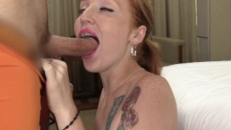 Young Redhead Mom Multiple Orgasms & Cum Facial