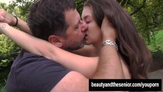 Busty teen Angelina fuck an old cock
