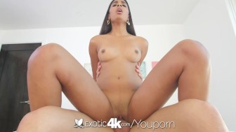 Exotic4K - Exotic Katalina Mills opens her long legs to get fucked