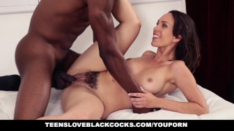 TeensLoveBlackCocks - Teen Washes Car For some Big Black Cock