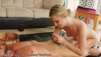 Jillian Janson Nuru Massage with 50 Year Old Man