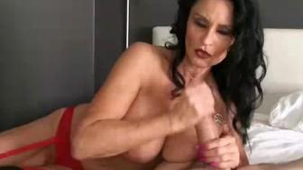 The Busty Milf Treats One Of Her Fan's Cock