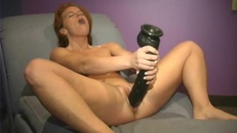 Two big brutal dildos for nympho