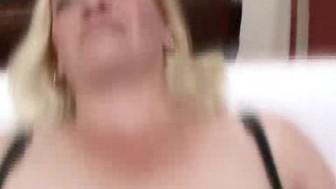 Blonde Mature Babe Sucks On Two Cocks