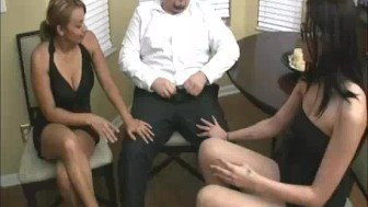 Latin Mom Jerks Her Boss's Cock To Get Her Job Back