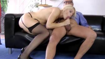 Stockings brit cockriding olderguy