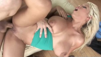 Busty slut Bridgette B fucks hard and gets a big facial