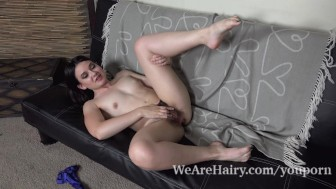 Amy Faye enjoys a sneaky time and masturbates