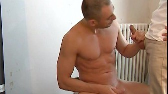 My sexy neighbour made a porn where he pump a big cock