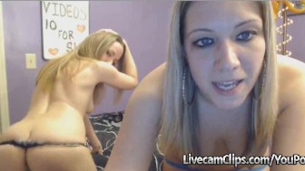 Two Blonde Amateur Girls Hot Lesbo Sex On Webcam!