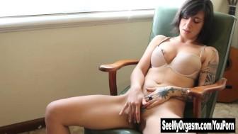 Tattooed Liandra Fingering Her Hairy Twat