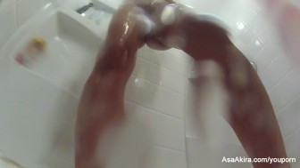 cute shower with asa akira