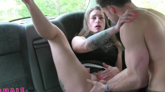 FemaleFakeTaxi Nervous farmer can't satisfy driver