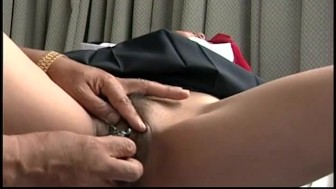 Asian babe getting her wet pussy sex toy treated
