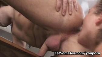 Shy german hottie Luissa Rosso eats ass like hungry slut