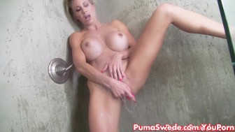 Euro Babe Puma Swede takes Steamy Shower!