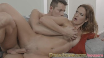 DaneJones Stunning brunette gets her wet pussy pounded by younger guy