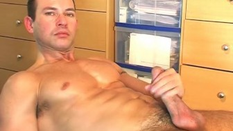 Full video: a sexy innocent repair guy serviced his big cock by a guy!