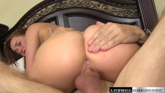 Tiny Teen Alaina Dawson's pink pussy filled creampie