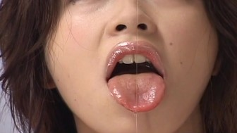 Asian babe lick and handjob big cock