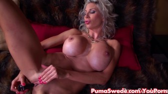 Euro Blonde Puma Swede Gets off with Bejeweled Dildo!