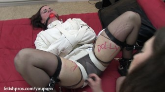 Cherry Doll Humiliation in Straitjacket