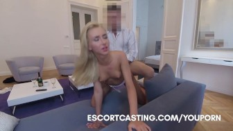 Real Escort Video Interviewing Teen At Coffee Shop and Taking Her Back To Flat