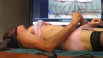 Cumming watching porn 2