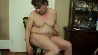 horny pig on chair