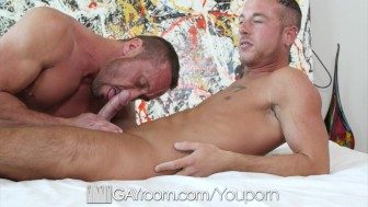 GayRoom - Myles Landon Daddy Fucks Jordan