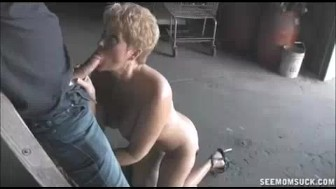 Horny Milf Finds A Big Dick For Sucking