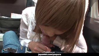 Miyashita loves to be publicly toy stuffed by her man