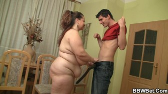 Fat babe gets her twat fingered and drilled
