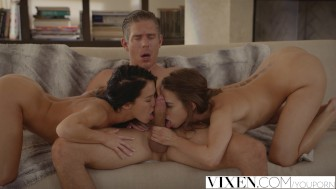VIXEN Best friends Riley & Megan fuck neighbour in a daring threesome
